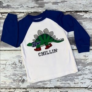Boy Long Sleeve Gymboree Dinosaur Graphic T Sz 3T